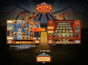 Golden Ticket slotmaskinen SS-01