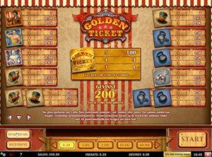 Golden Ticket slotmaskinen SS-02