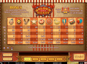 Golden Ticket slotmaskinen SS-03