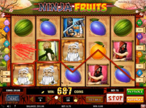 Ninja Fruits slotmaskinen SS-04