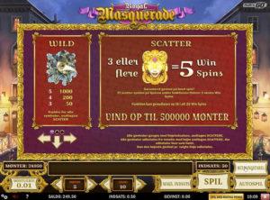 Royal Masquerade slotmaskinen SS-02