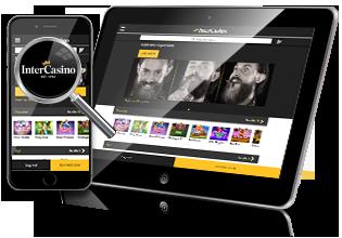 Mobil & tablet spil hos Intercasino
