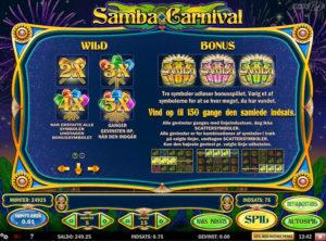 Samba Carnival slotmaskinen SS-03