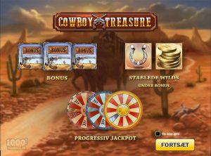 Cowboy Treasure slotmaskinen SS-01