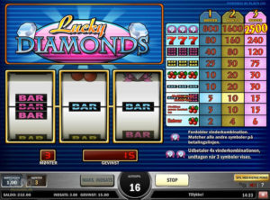 Lucky Diamonds slotmaskinen SS-04