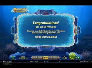 Mermaid's Diamond slotmaskinen SS-08