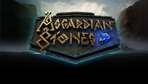 Her kan du spille Asgardian Stones Slotmaskinen