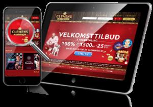 ClemensSpillehal.dk - mobil og tablet
