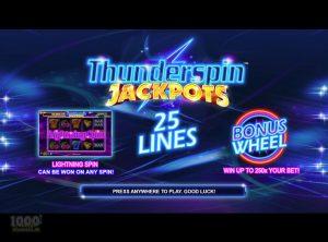Thunderspin Jackpots slotmaskinen SS-02
