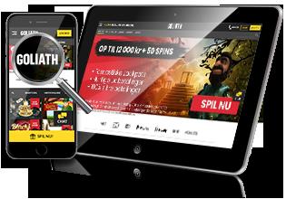 Goliath Casino - spil på mobil og tablet