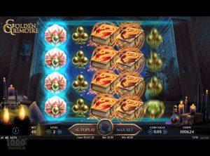 Golden Grimoire Spilleautomat - Skærmbillede